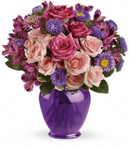 Teleflora's Purple Medley Bouquet with Roses