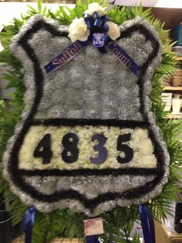 Custom Funeral Police Badge Sympathy