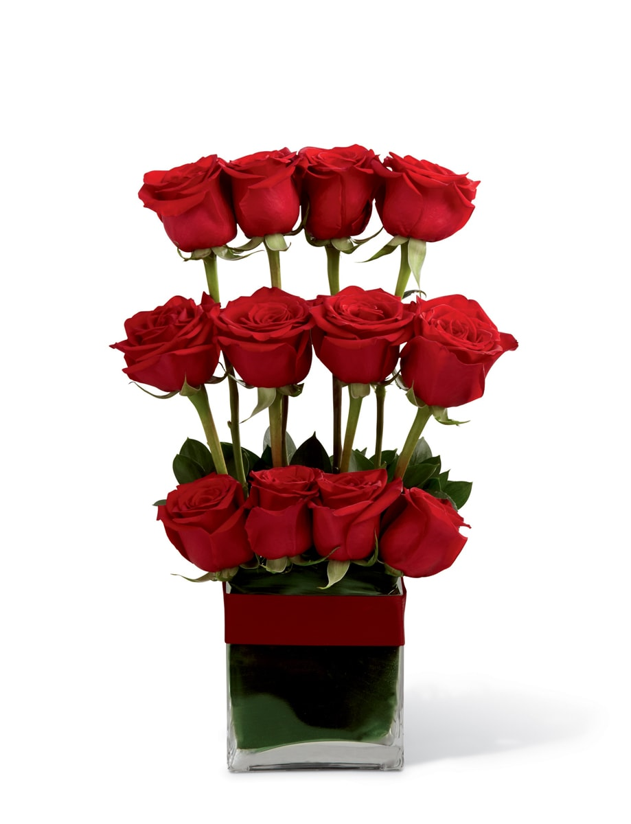 The FTD® Towering Beauty™ Rose Arrangement