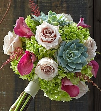 Vineyard Wedding Mixed Bouquet