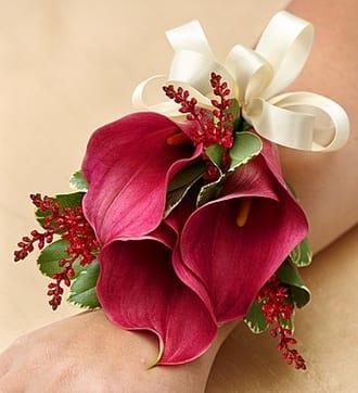 Vineyard Wedding Corsage - Mini Calla Lilies