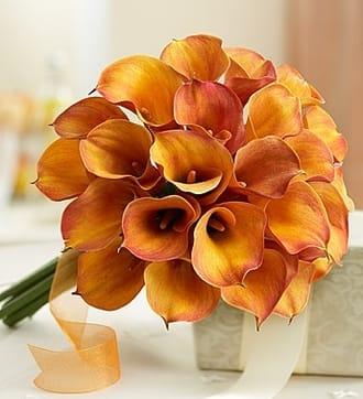 Golden Sunset Mini Calla Lily Bouquet