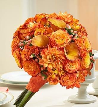 Golden Sunset Mixed Bridal Bouquet