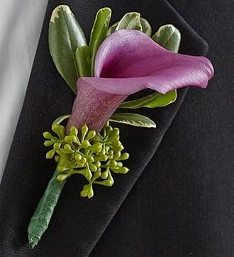 Purple Elegance Boutonniere