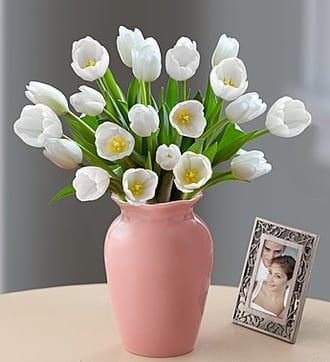 Tulips Together Bouquet™ - White