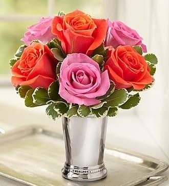 Julep Cup Rose Arrangement - Multi