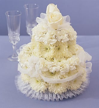 Flower Cake for Wedding