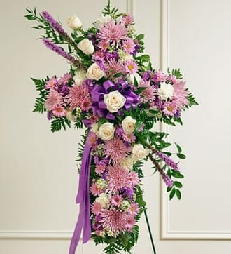 Lavender and White Standing Cross