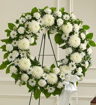 All White Standing Wreath
