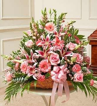 Pink Fireside Basket