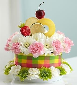Fresh Flower Cake™ Fruit Cake