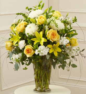 Beautiful Blessings Vase Arrangement - Yellow