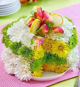 Fresh Flower Cake™ - Lemon