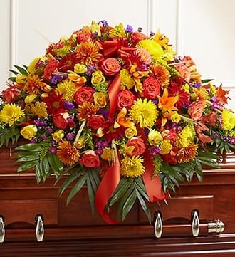 Half Casket Cover in Fall Colors
