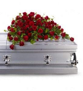 Red Rose  Casket Spray Tribute