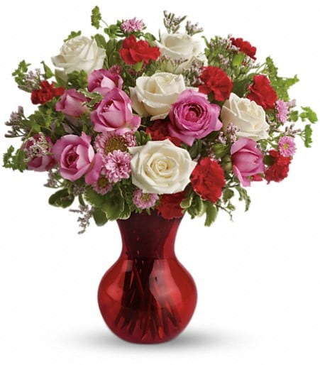 Teleflora's Splendid in Red Bouquet with Roses