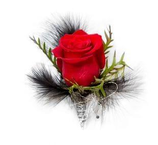 Black Swan Boutonierre - RED