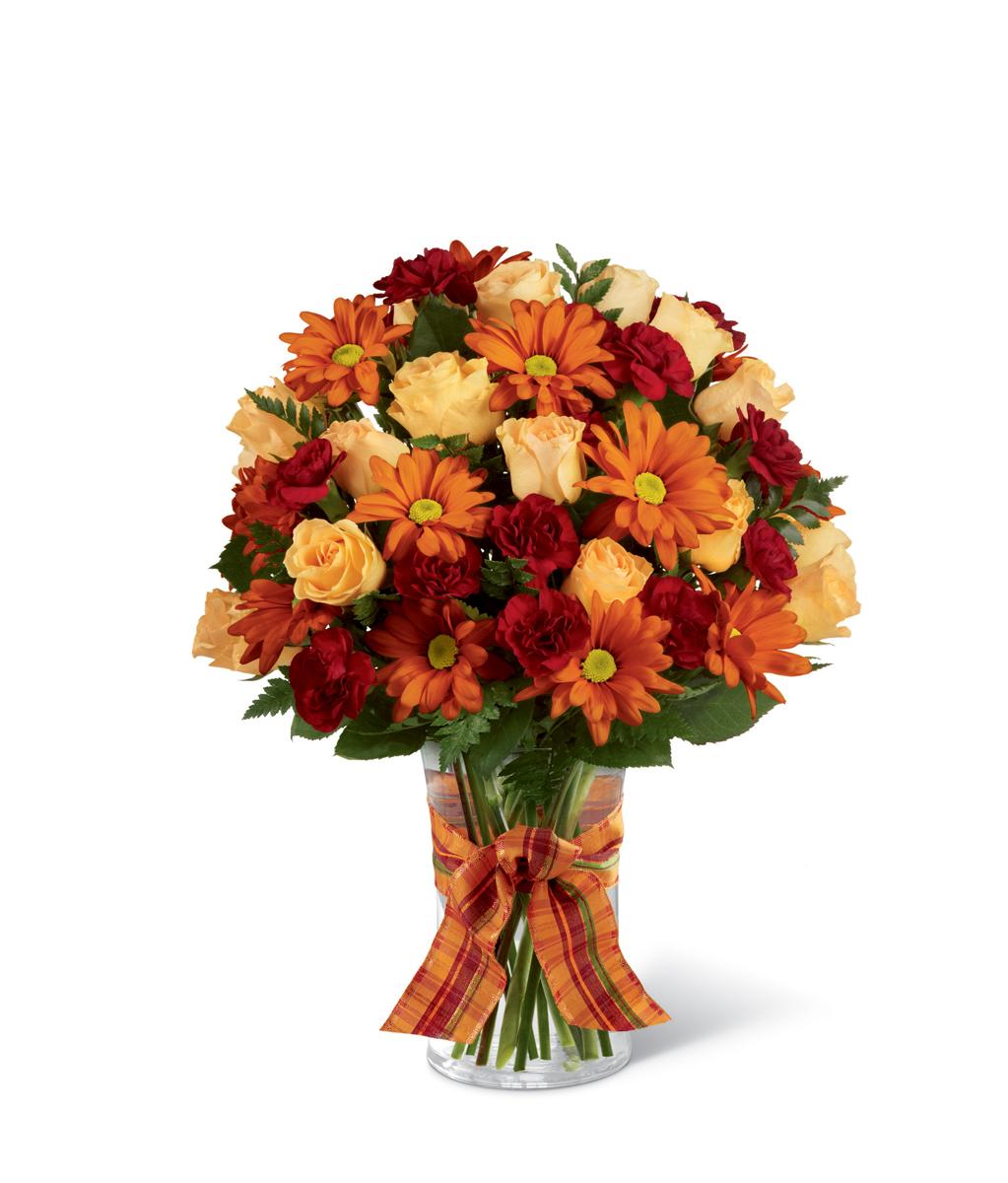 The Ftd Golden Autumn Ribbon Bouquet Detroit Mi Florist