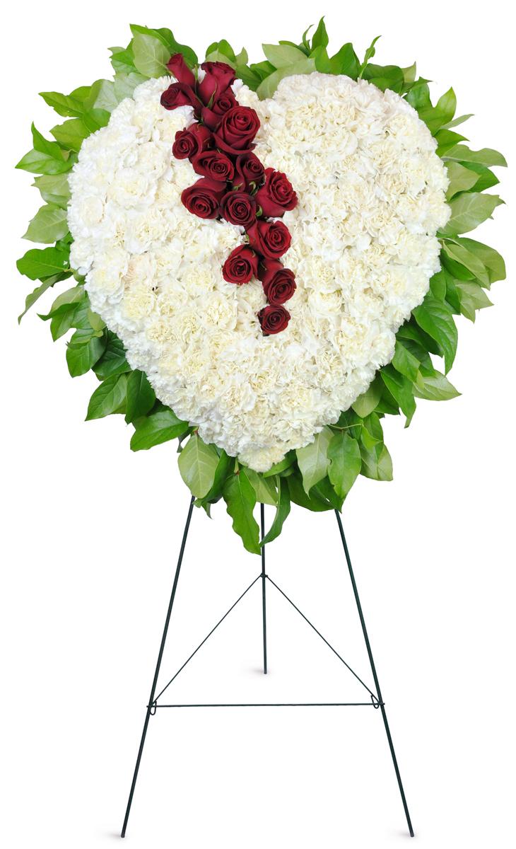 Sympathetic heart standing spray indianapolis in florist izmirmasajfo
