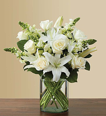 Classic All White Arrangement Milwaukee Wi Florist
