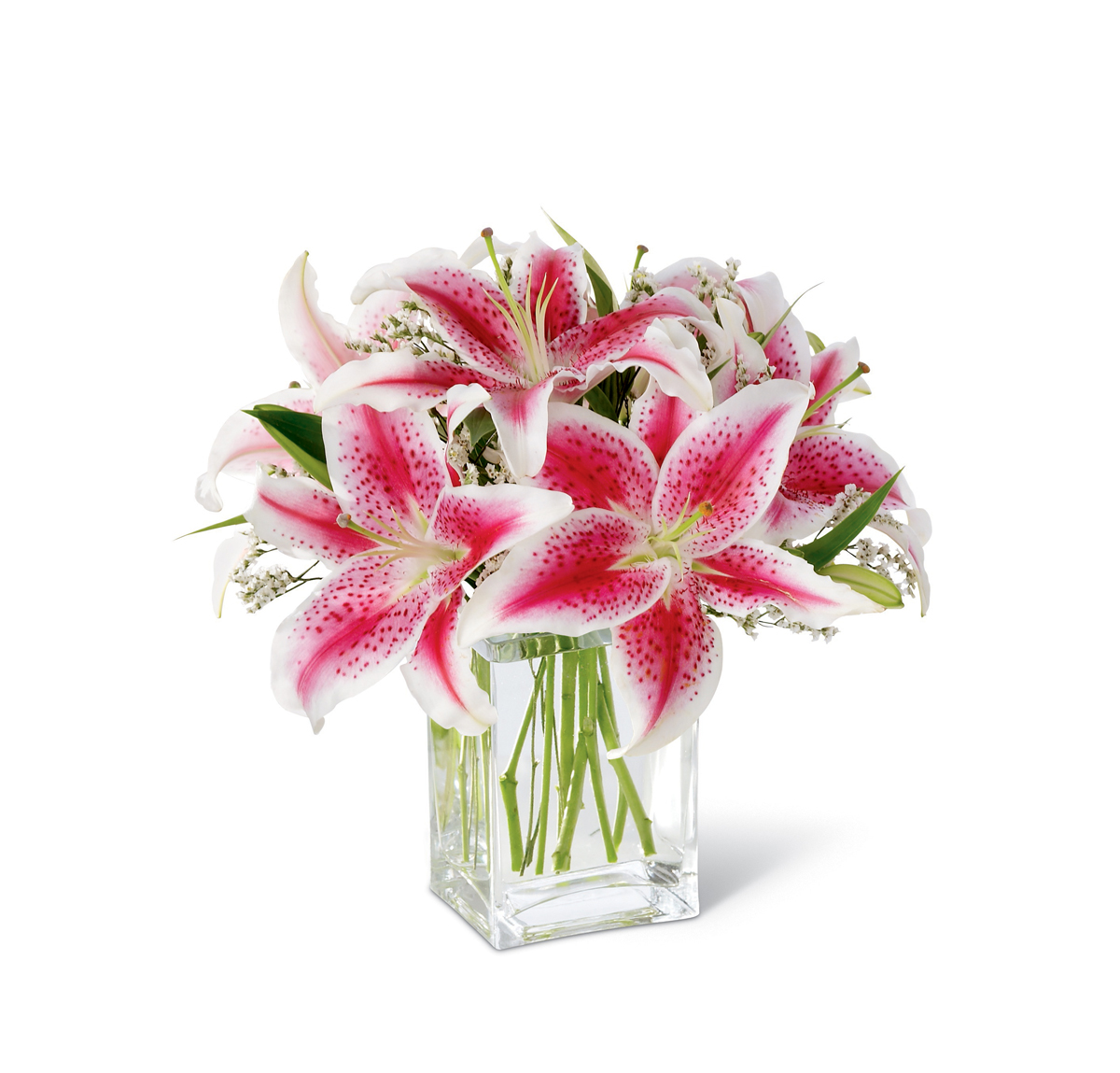 The Ftd Pink Lily Bouquet Iowa City Ia Florist