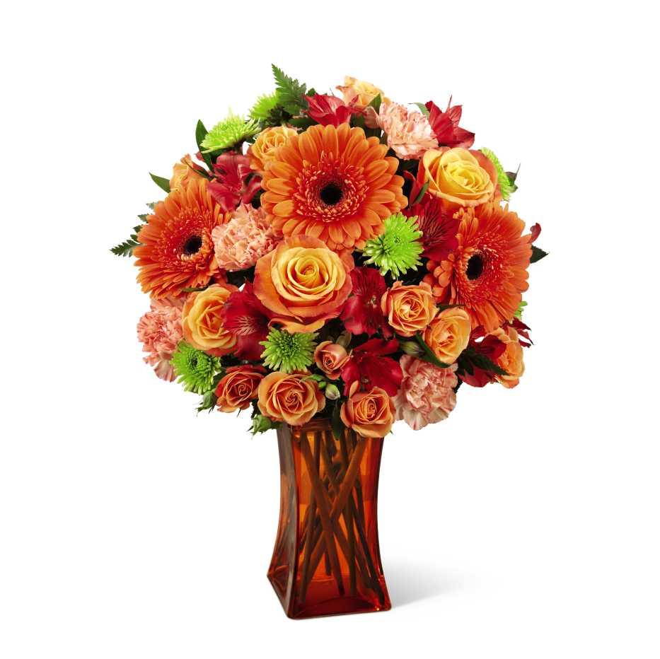 The Ftd Orange Escape Bouquet Bristol Pa Florist
