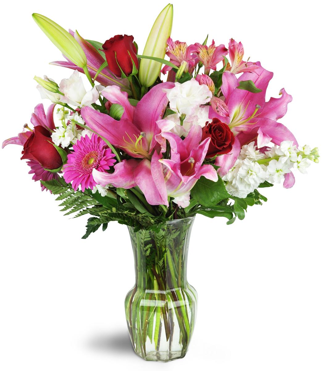 Blushing Heart Bouquet™ - Le Claire, IA Florist