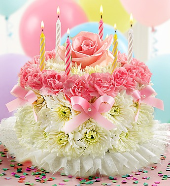 Birthday Flower Cake Pastel Melrose Park IL Florist