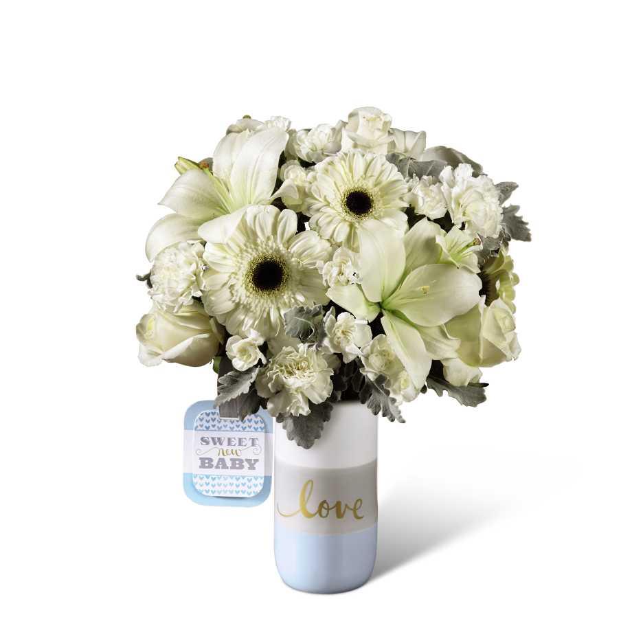 The Ftd Sweet Baby Boy Bouquet By Hallmark Detroit Mi Florist