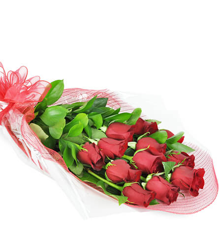 Perfect wrapped long stemmed red roses mightylinksfo