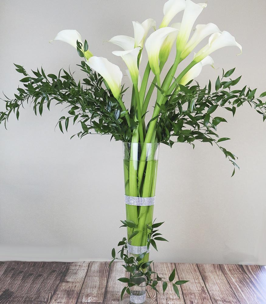 Grand Calla Lily Arrangement Mahopac Ny Florist