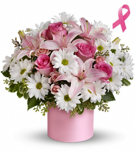 Telefloras Pink Hope And Courage Bouquet
