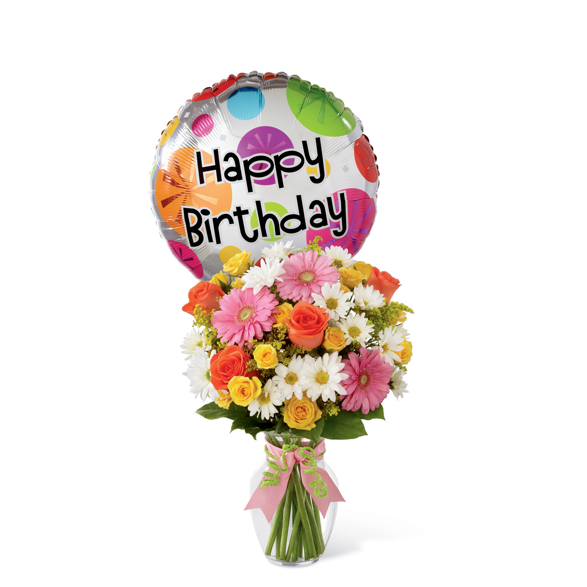 The Ftd Birthday Cheer Bouquet With Balloon Bristol Pa Florist
