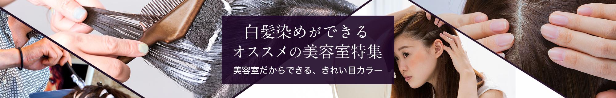白髪染め(グレイカラー)ができるオススメの美容院特集