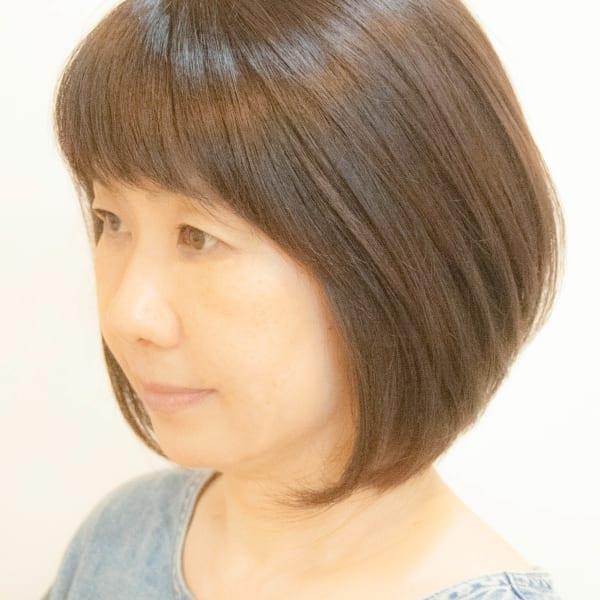 オススメ順】50代~/ボブの髪型・ヘアスタイル