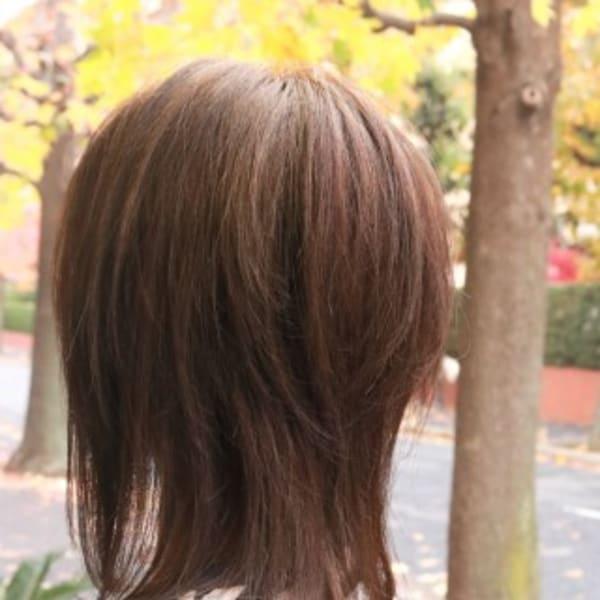 オススメ順 ウルフ ミディアムの髪型 ヘアスタイル 楽天ビューティ