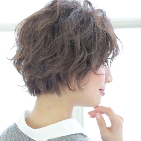 オススメ順 40代 パーマ ショートの髪型 ヘアスタイル 楽天ビューティ