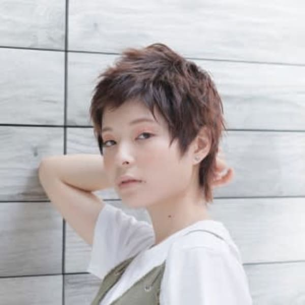 オススメ順】ウルフ/ベリーショートの髪型・ヘアスタイル