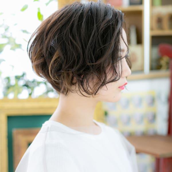 髪型パーマショート