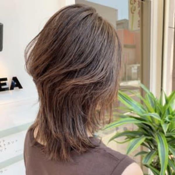 オススメ順】50代~/レイヤー/セミロングの髪型・ヘアスタイル