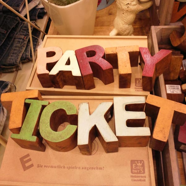 Party ticket.