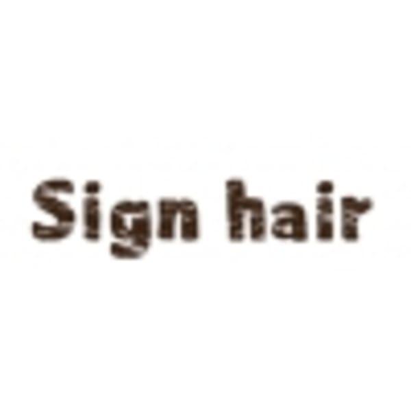 Sign hair