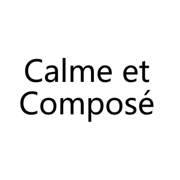 Calme et compose'