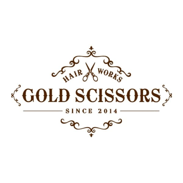 HAIR WORKS GOLD SCISSORS