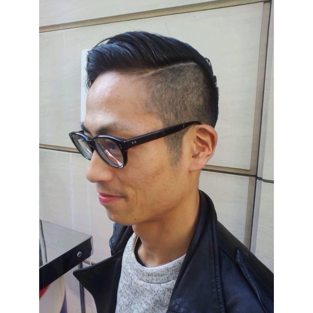 ショート ブロック ベリー ツー アシメ 髪型 メンズ