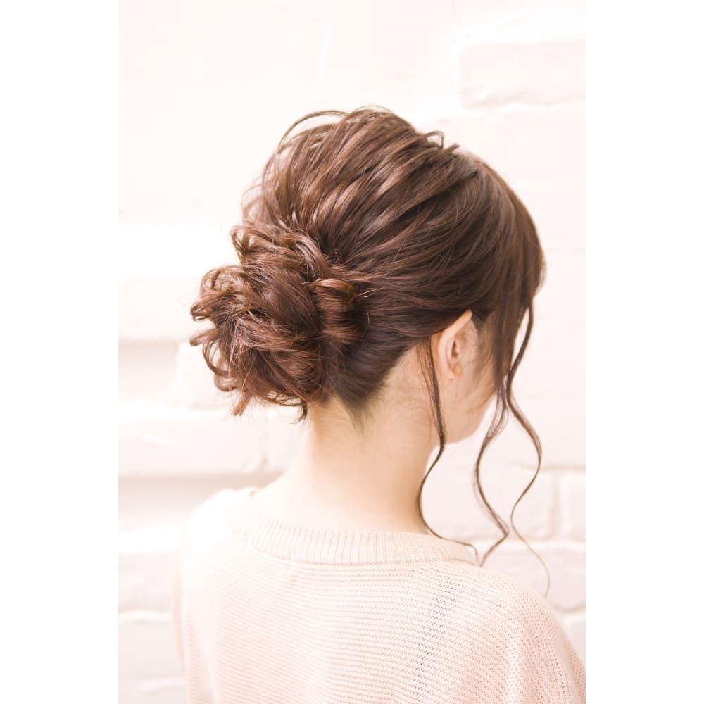 セミロング 華やかヘアセット 編みおろし Canaanの髪型 ヘア