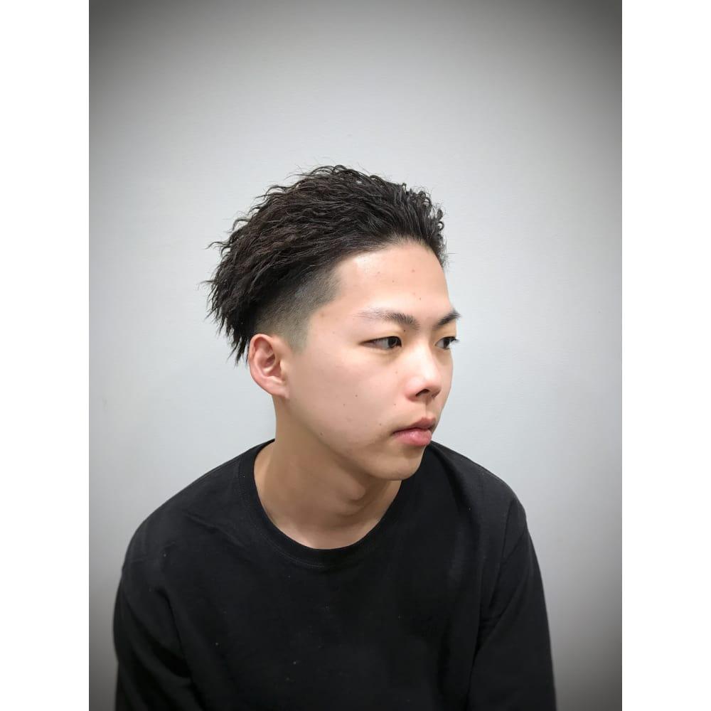 短髪 ツイスト パーマ
