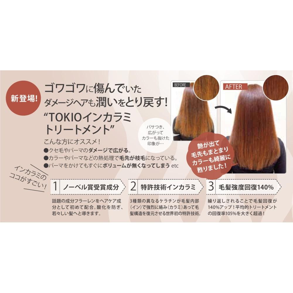 カラミ トキオ トリートメント イン TOKIO トキオインカラミトリートメントで髪質改善するなら正規取扱い店の池袋東口の美容室L'heureux(ルルー)