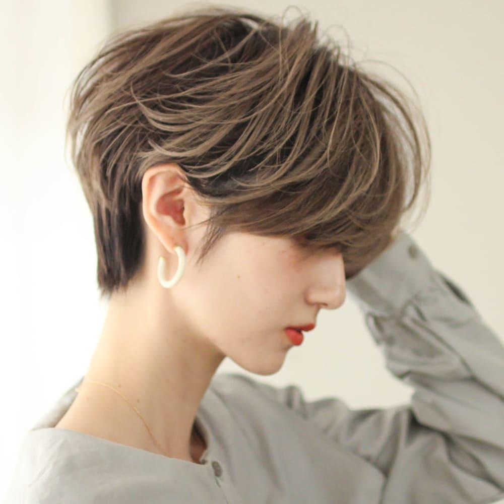 ショートヘア 面長