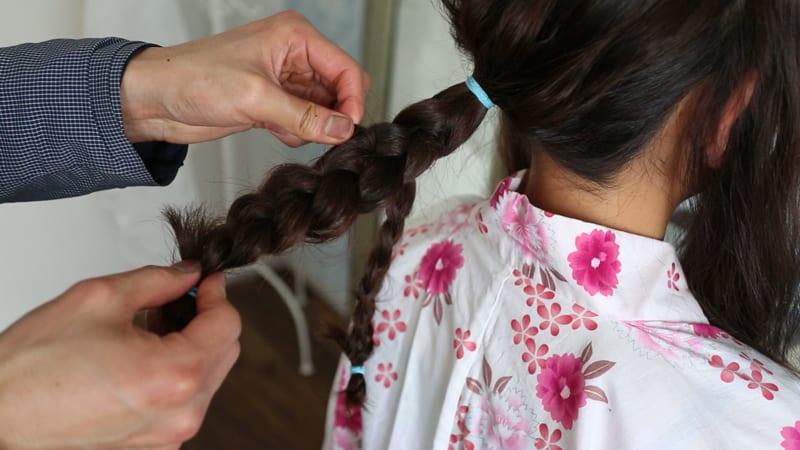 8:毛束を引き出す